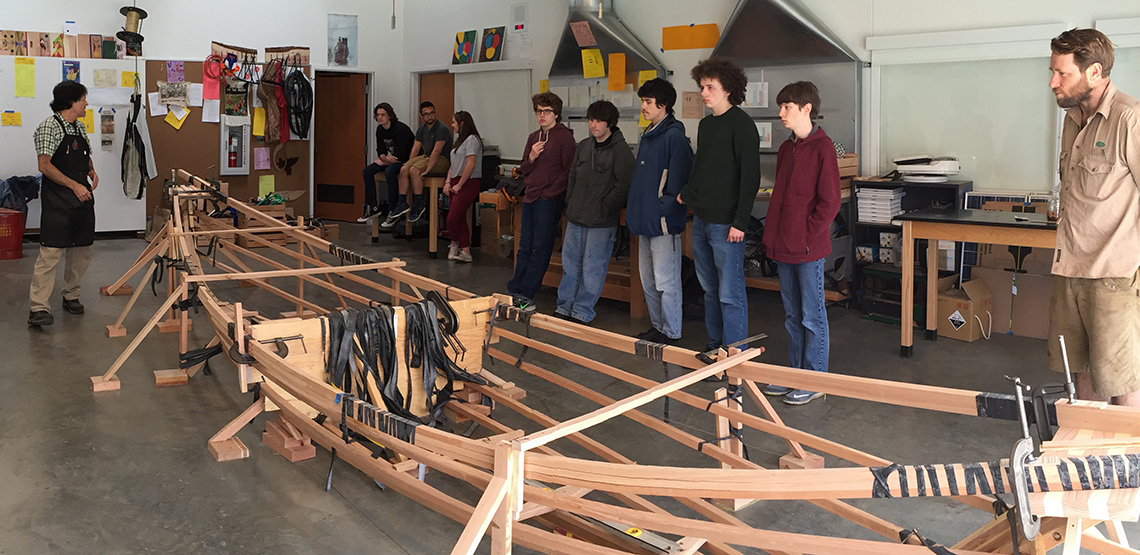 boat building at orcas island schools